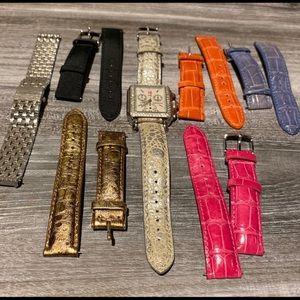 Authentic Michele Diamonds 💎 Watch Set 18mm